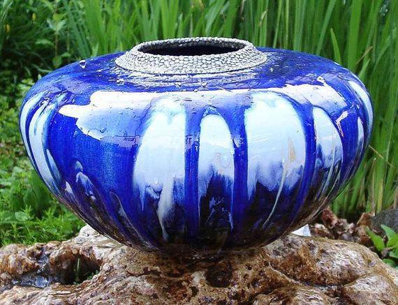 Supernova  fatbellied vase by Rakupferamik on Etsy, $729.00