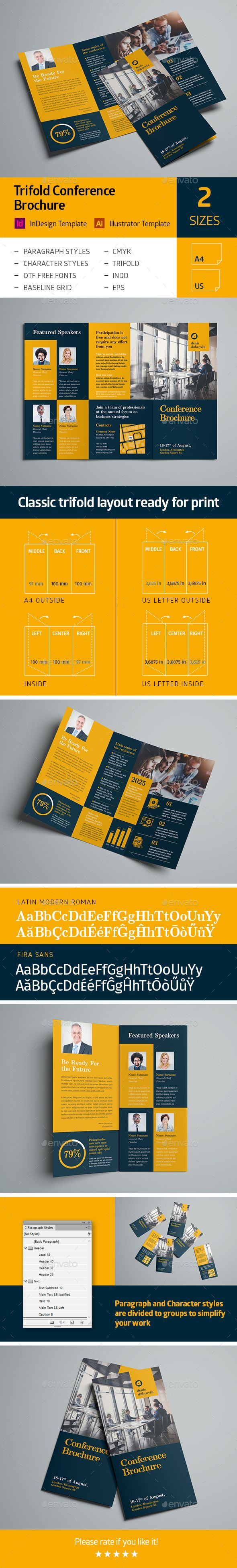 Trifold Conference Brochure  Brochures Brochure Template And
