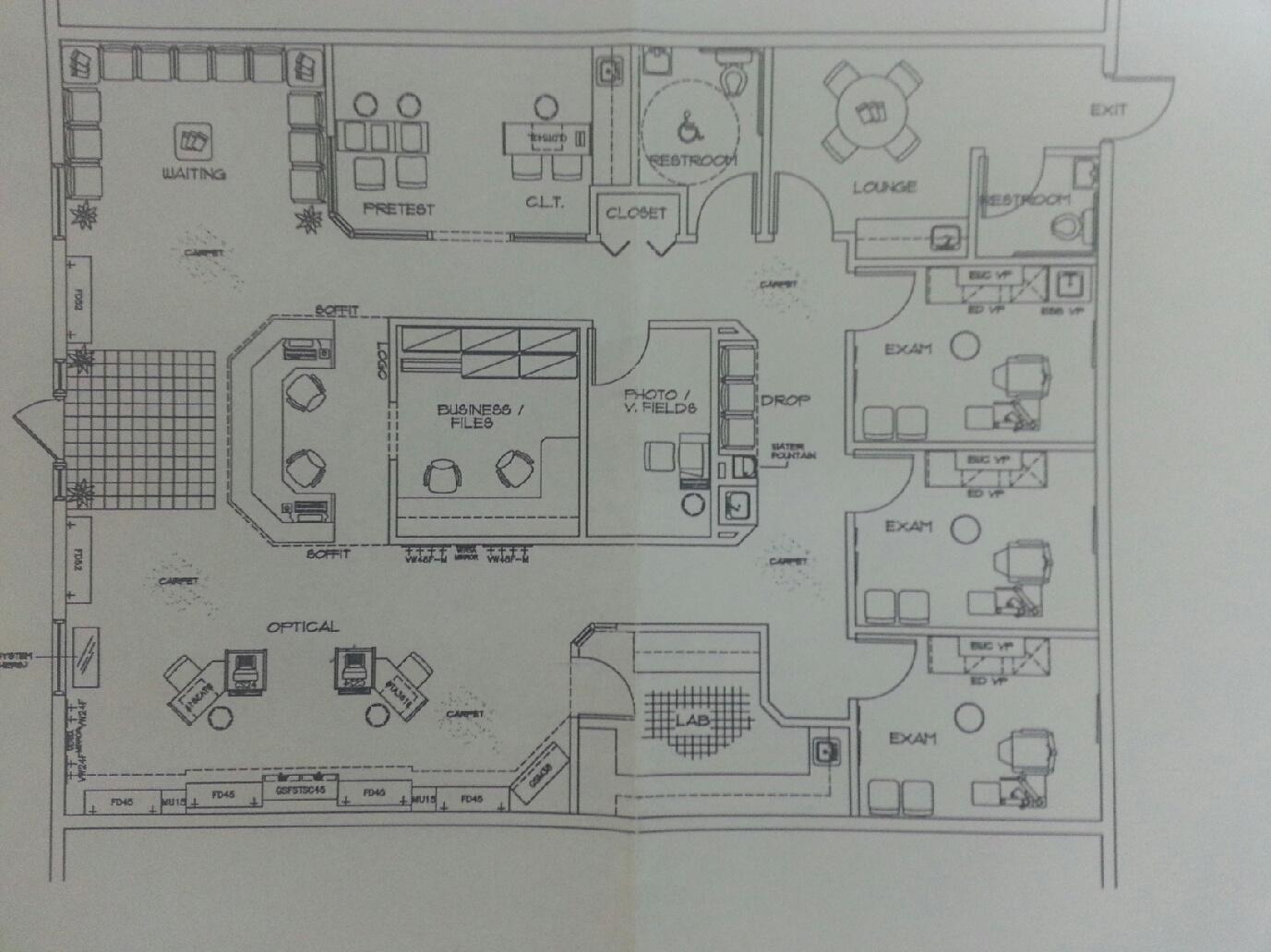 Dustin S Office Optometry Office Office Floor Plan Optometrist Office