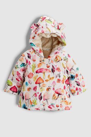 efe437a49532 Girls Next Cream Toadstool Printed Jacket (0mths-2yrs) - Cream ...