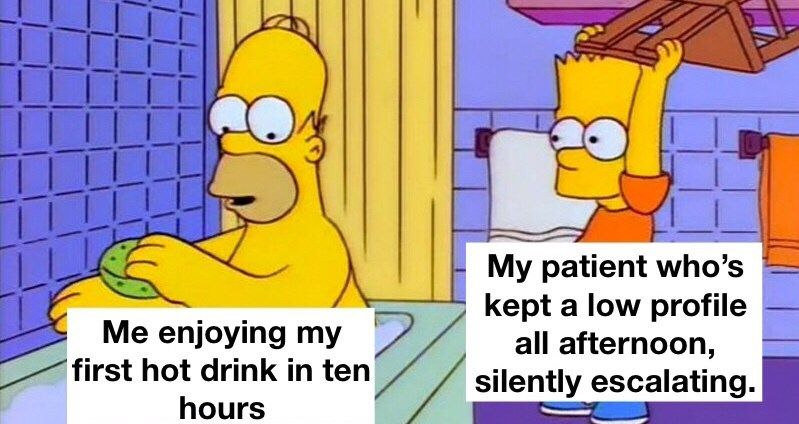 Relatable Memes For Those Who Ve Worked In A Psychiatric Ward Simpsons Funny Star Wars Memes The Simpsons