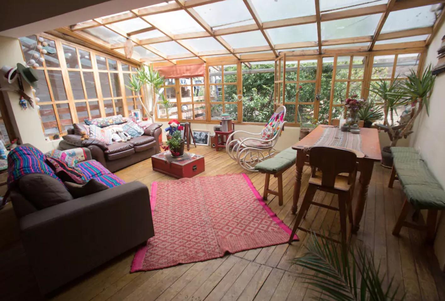 Terraza Cerrada Con Tragaluz Living Area Home Home Decor