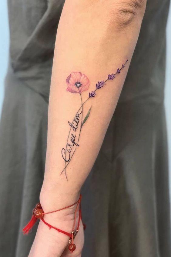 40 disegni di tatuaggi floreali belli e unici per le donne – pagina 15 di 40 – getbestid …