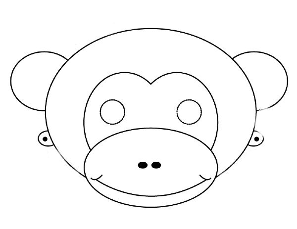 Gallery For Blank Monkey Face Template