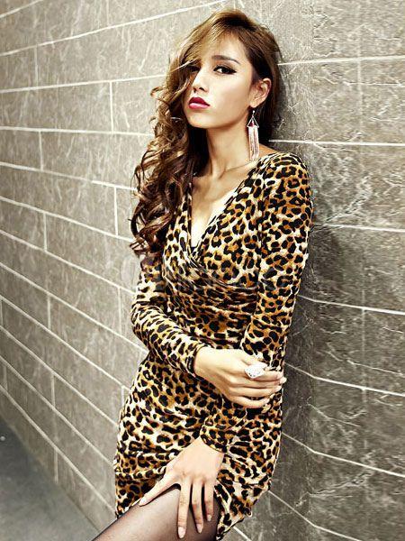 52f7a8e591 Sexy Leopard Print Club Dress