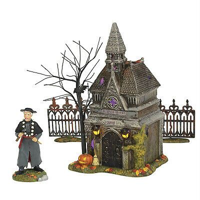 Dept 56 Halloween Village Rest In Peace 2018 4pc Set Lighted Crypt 6002304 NEW   eBay