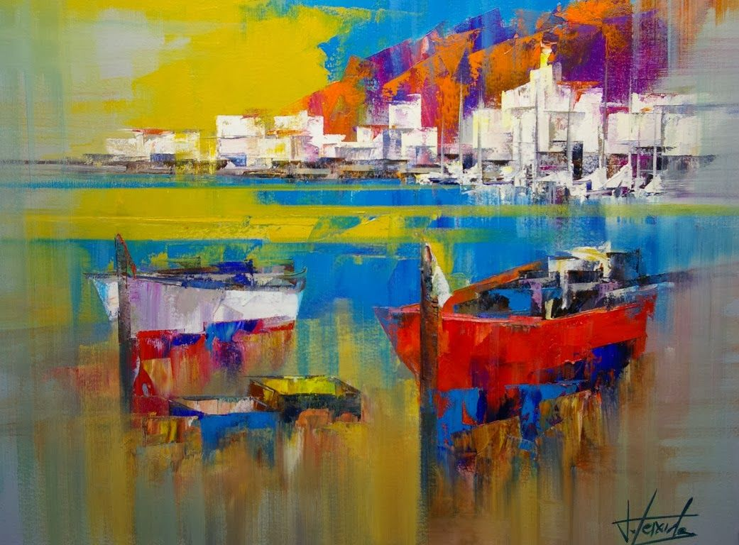 Fine Art and You: Beautiful Abstract Palette Knife Paintings by Josep Teixido