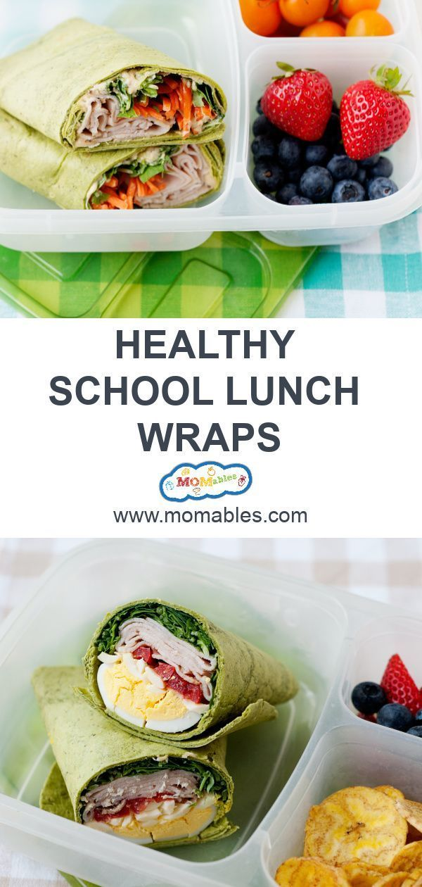 5 Healthy Wraps for School Lunch images