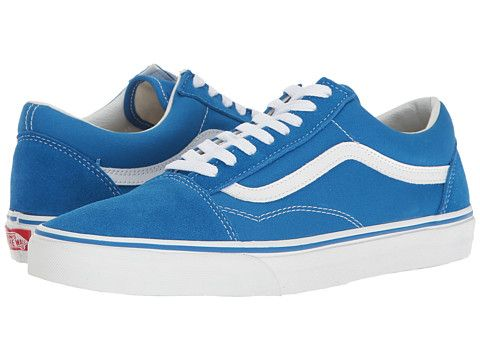 3eb4ff3e787 Vans Old Skool™ (Suede Canvas) Imperial Blue True White - Zappos.com ...