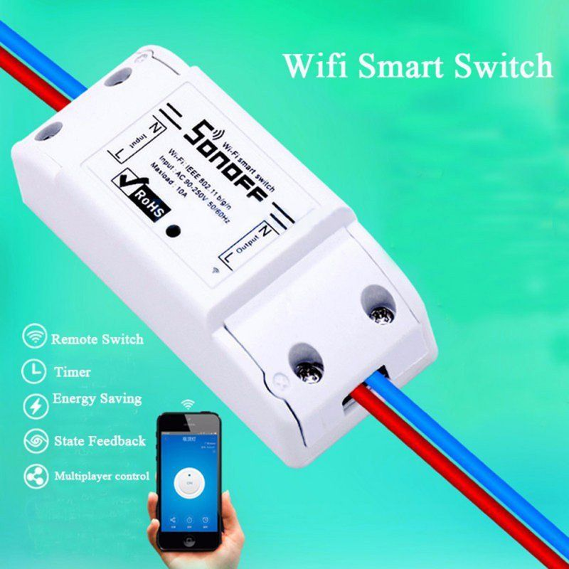 Sonoff Smart Home Remote Controller Wireless Universal Switch Module Timer Wifi Switch Smar Smart Home Automation Wireless Switch