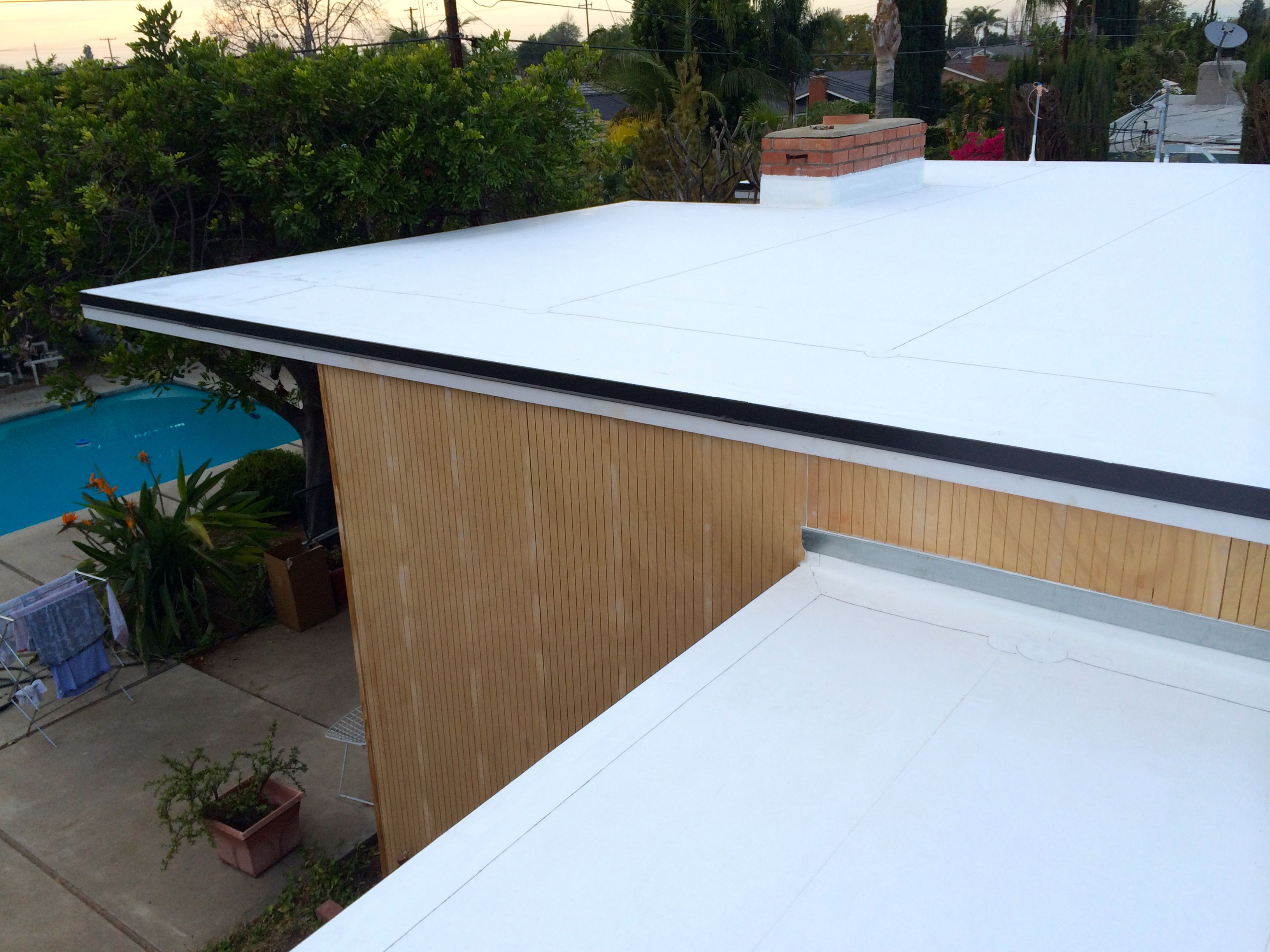 Mid Century Modern Eichler Roof Revival Tore Off An Old