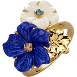 Photo of Diemer colored stone, flower ring DiemerDiemer