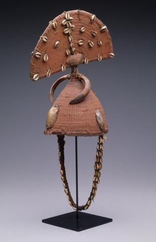 Hat with crest and boar's tusks | Dallas Museum of Art