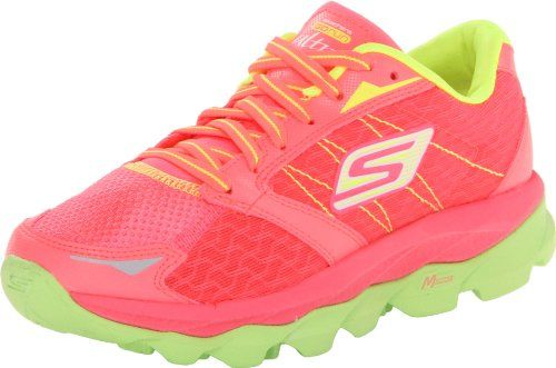 Skechers Performance Womens Go Run Ultra Running Shoehot Pinklime9