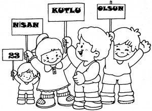 23 Nisan Boyama Sayfaları Boyama Sayfası Kindergarten Art Art