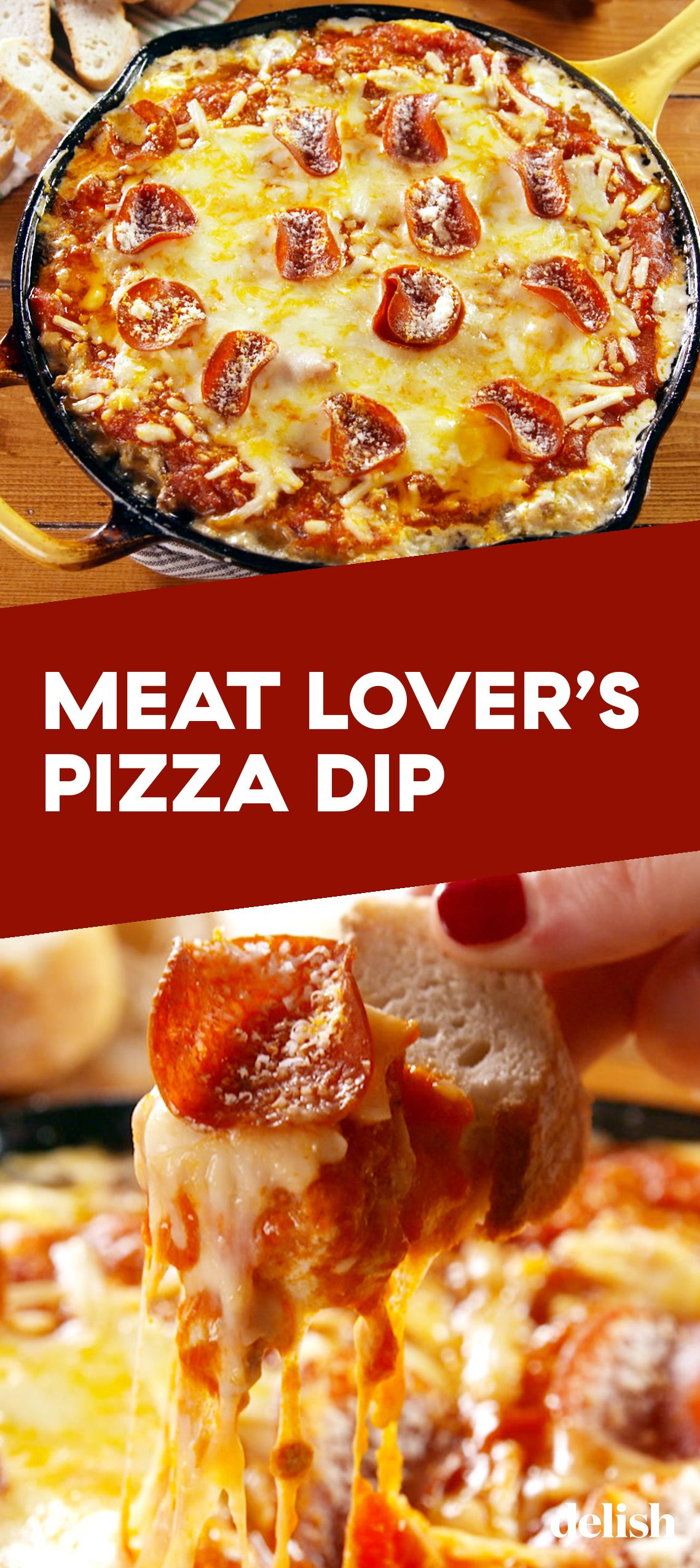 Meat Lover S Pizza Dip Pizza Dipping Meat Lovers Pizza Dip Meat Appetizers