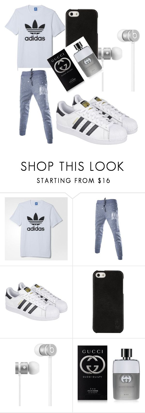 """Untitled #6"" by shaniya20052005 ❤ liked on Polyvore featuring adidas, Polo Ralph Lauren, Beats by Dr. Dre, Gucci, men's fashion and menswear"