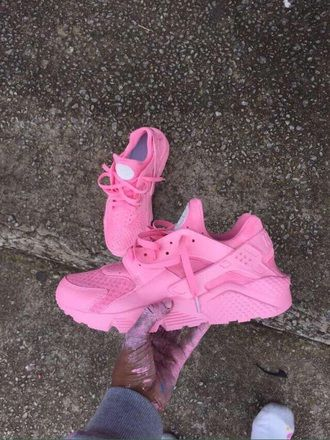 83bf35d61a0c7 shoes pink hurraches nike sneaker pink nike cute custom shoe huarache light  pink women customized nike haraches luxury pink shoes nikeairhuarches nike  shoes ...