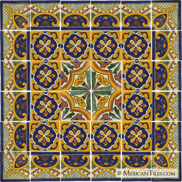 Mexican Decorative Tiles Mexican Tile  Decorative Talavera Tile Set  X7043  Joyce Images