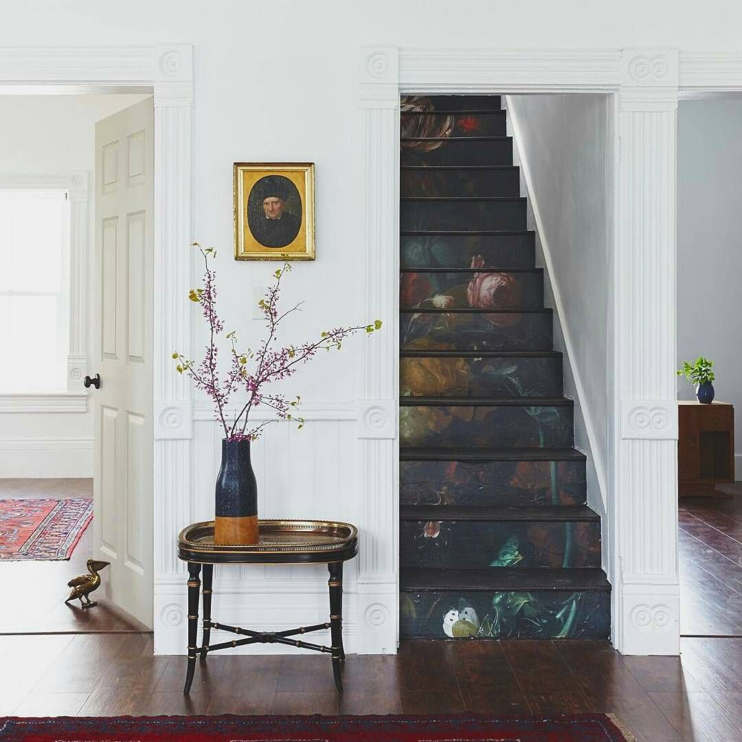 Painted floral stairs