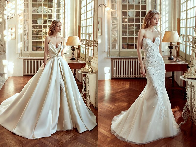 Two Gowns In One 26 Fashion Forward Convertible Wedding Dresses You Ll Love Convertible Wedding Dresses Convertible Wedding Dress Mermaid Lace Mermaid Wedding Dress