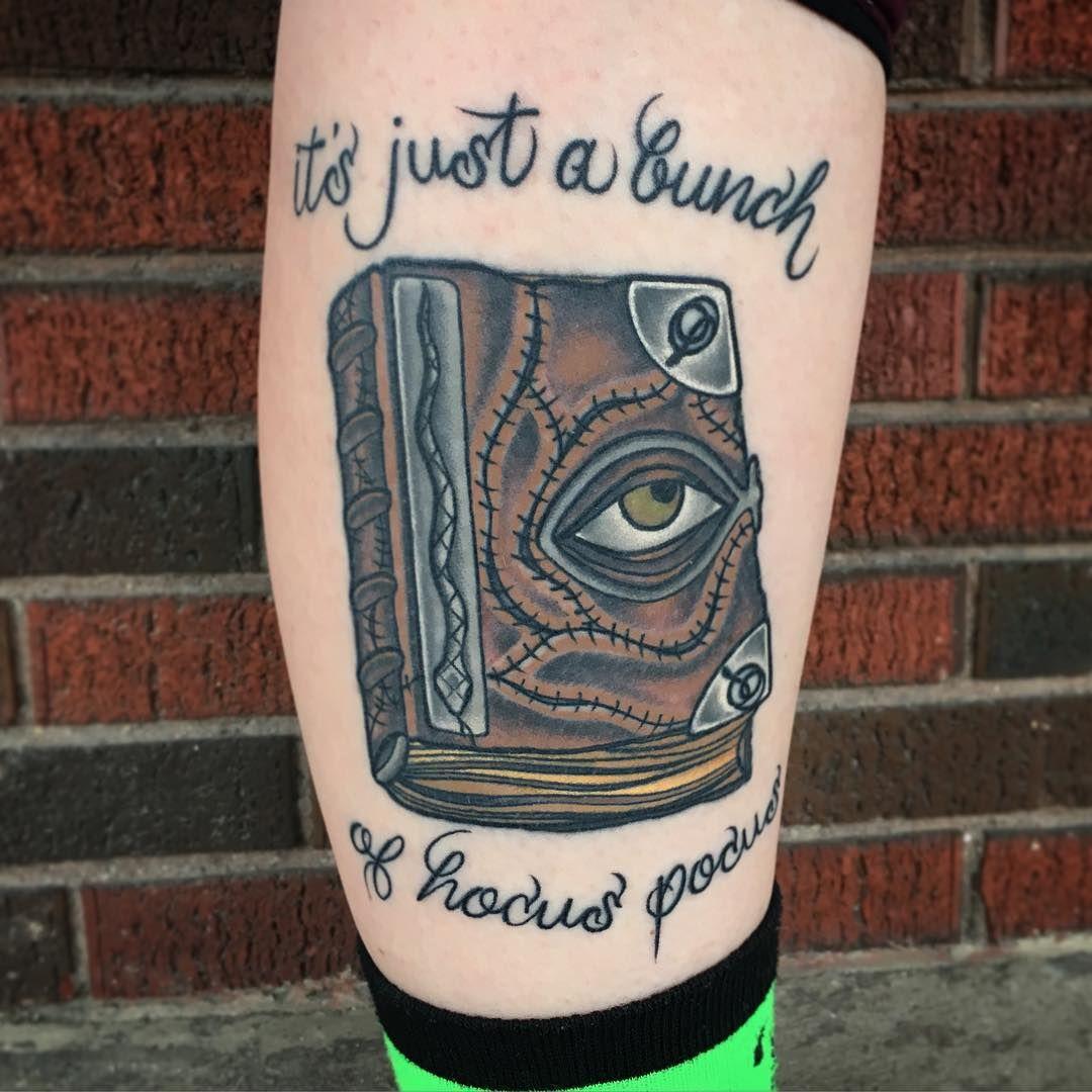 Tiffany Pitsos On Instagram Healed Shot Of This Hocus Pocus Piece I Did Hocuspocus Hocuspocustattoo Book Bo Sleeve Tattoos Movie Tattoos Girly Tattoos