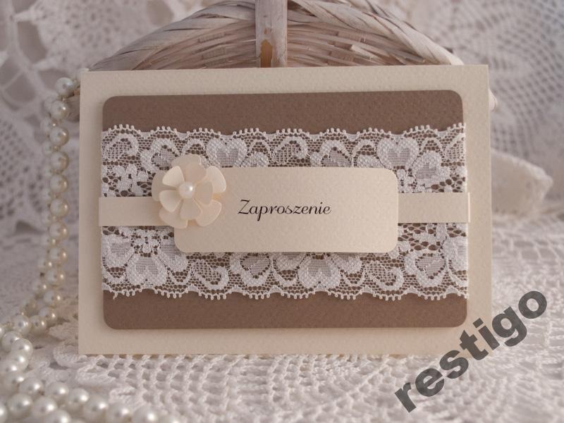 Zaproszenia Slubne Chrzest Komunia Nowosc Koronka 5240950879 Oficjalne Archiwum Allegro Invitations Cards Frame