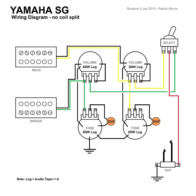 Epiphone Guitar Wiring Diagram