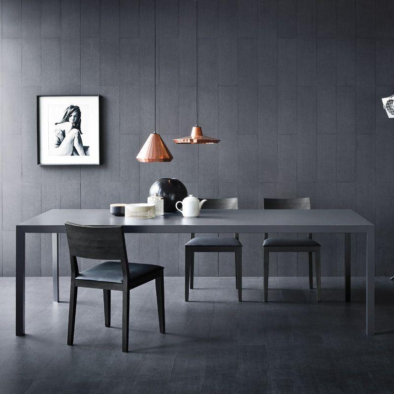 Modern Solid Wood Dining Table Designer Oak Or Walnut Tables