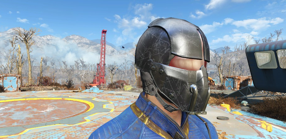 7e6b5de5 Black Synth Field Helmet at Fallout 4 Nexus - Mods and community ...