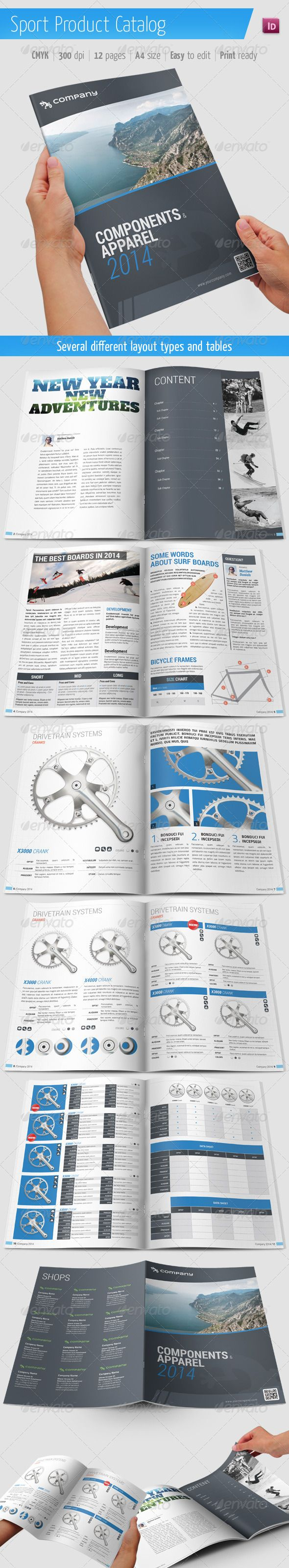 InDesign Product Catalog / Sport Brochure Template • Only ...