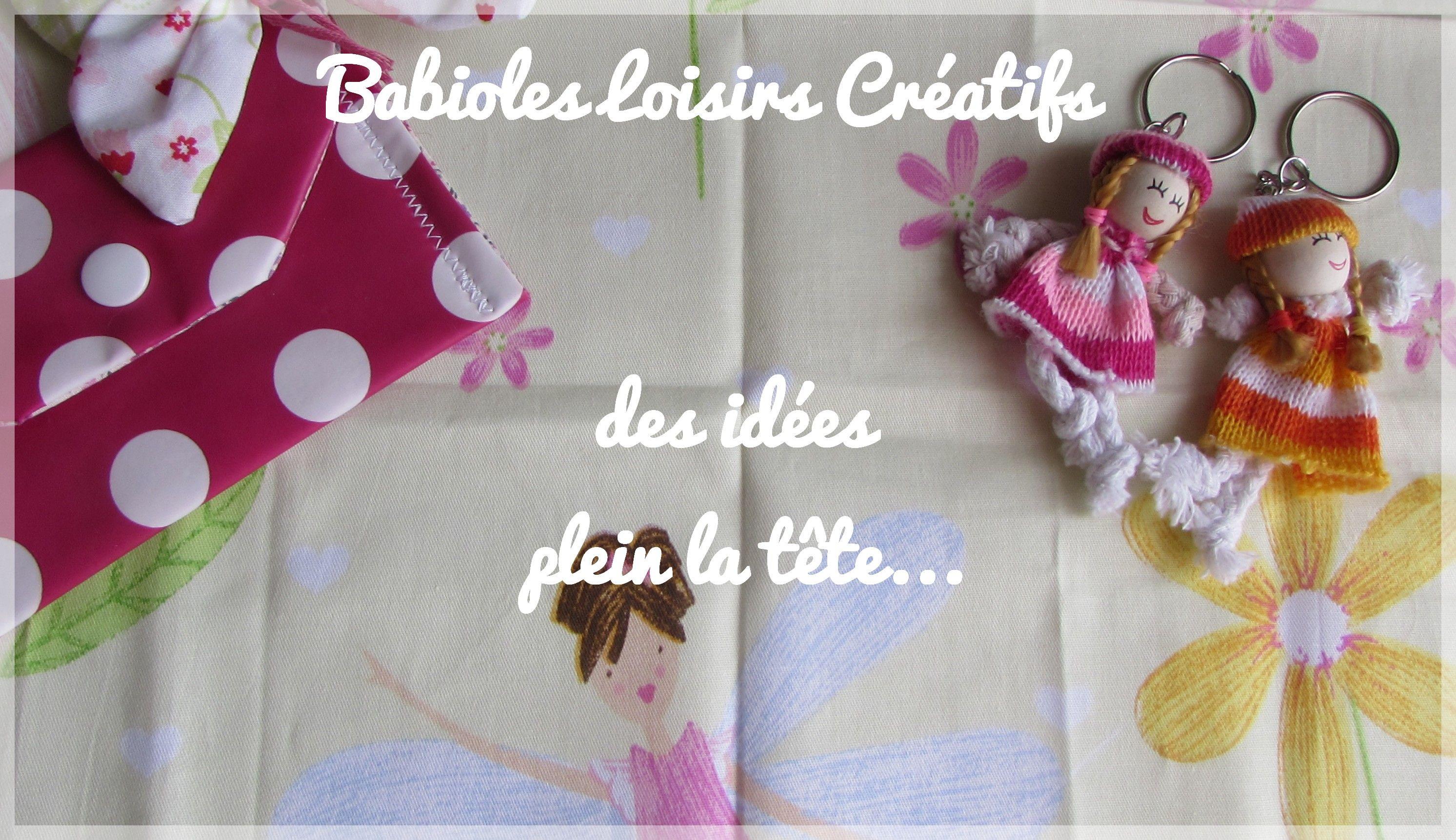 Vente de produits de loisirs créatif: couture, mercerie, accessoires et moules fimo, tricot, crochet, accessoires pour fabriquer vos barrettes ou bandeau...