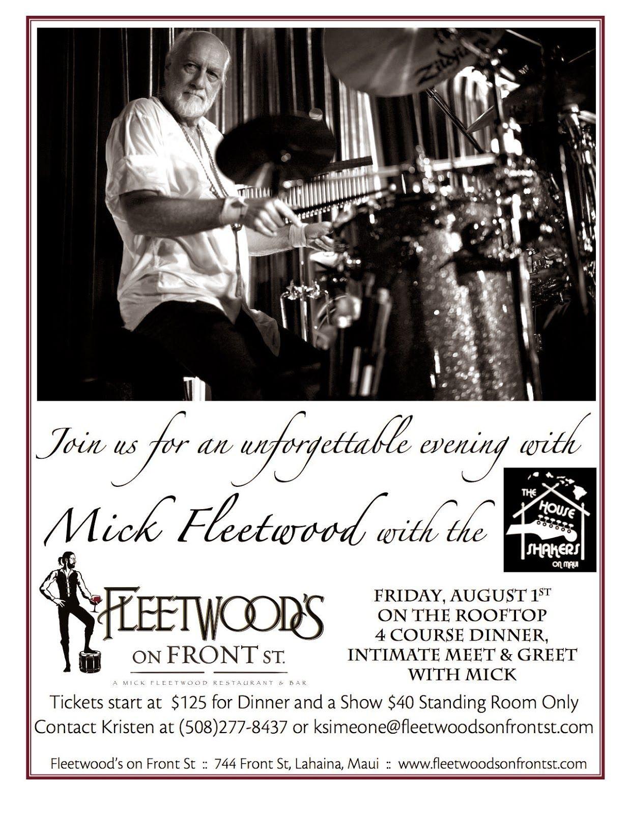 Fleetwood mac news meet greet with mick fleetwood august 1st on fleetwood mac news meet greet with mick fleetwood august 1st on maui mac newsmick fleetwoodstevie nicksmaui m4hsunfo