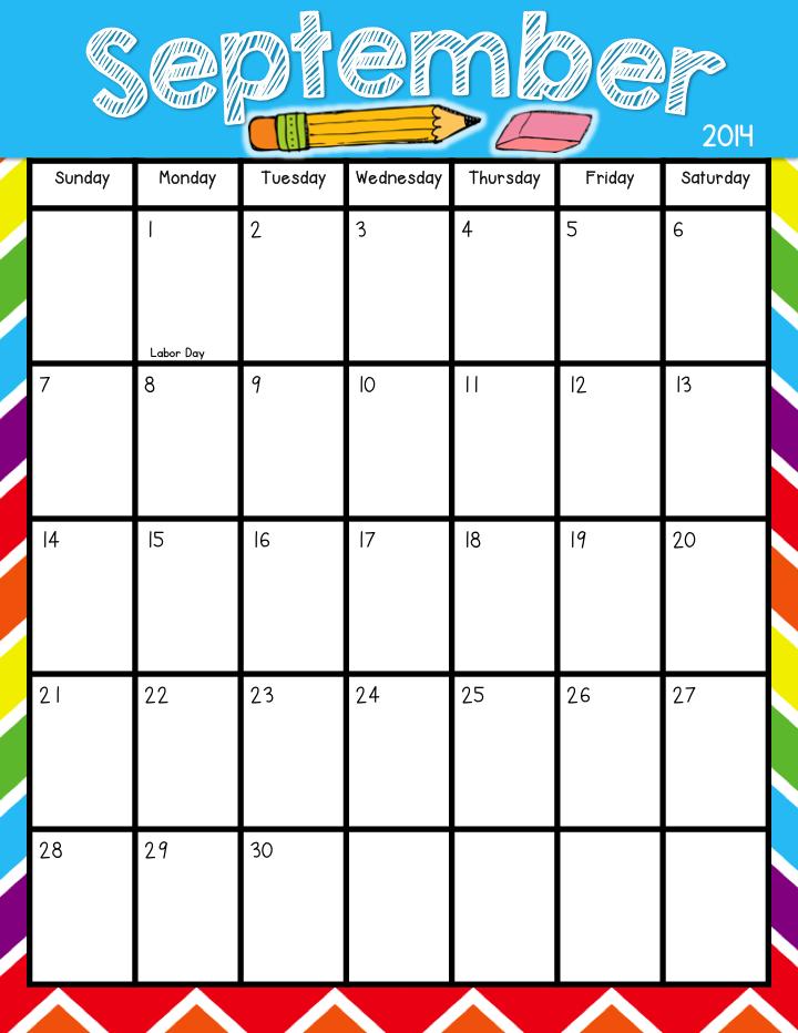 Teacher Laura Printable Calendar Freebie Aug 2014 July2015 Classroom Calendar Teacher Calendar Teacher Planner Printables
