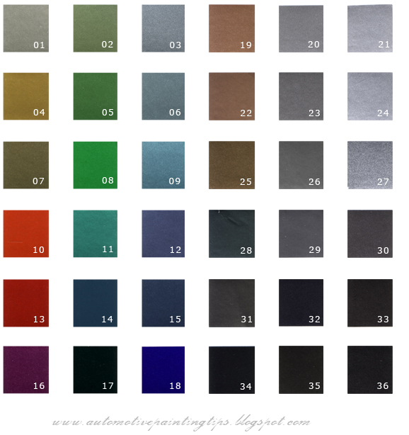 Dupont Car Paint Color Chart