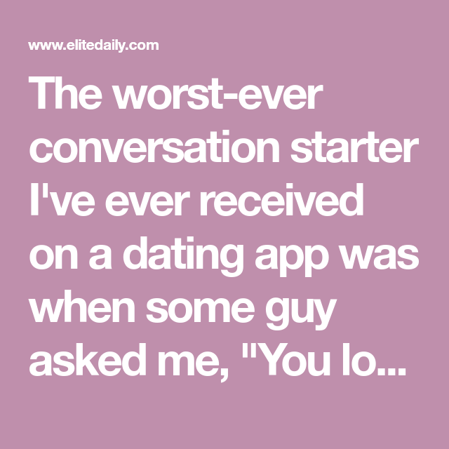 10 Good Bumble Conversation Starters That Your Matches Won't