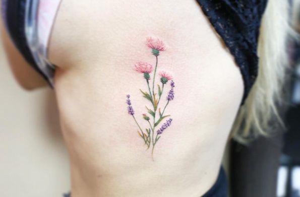 63 fabulous feminine tattoo design ideas tattoos on women pinterest thistle tattoo. Black Bedroom Furniture Sets. Home Design Ideas