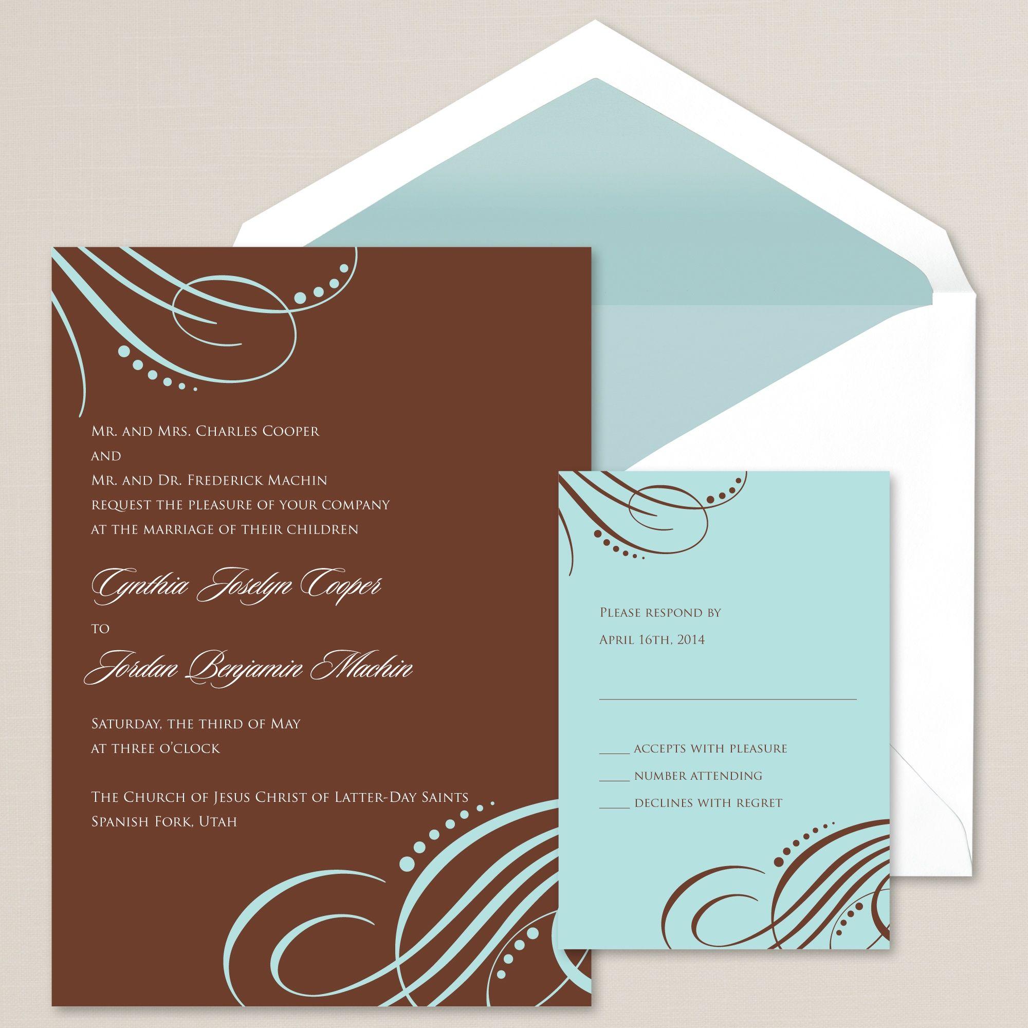 Contemporary Flourish Wedding Invitation | #exclusivelyweddings I ...