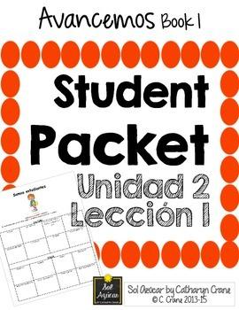 Avancemos 1 Unit 2 Lesson 1 Student Handouts Notes In 2021 Student Organization Vocab Lesson