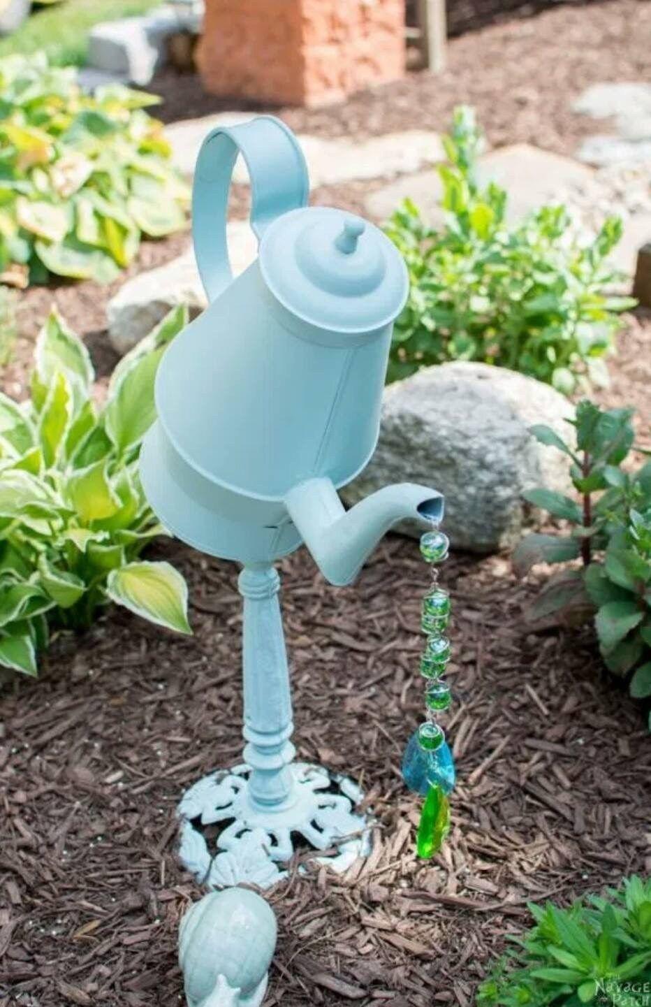 Teapot Garden Art Garden Art Pinterest Diy Garden Decor in Diy Garden Art  Id …, #Art in 2020 | Diy garden decor, Garden art diy, Diy garden