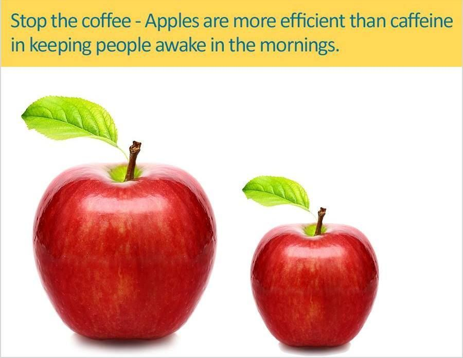 #Apple wake ups early in the morning.