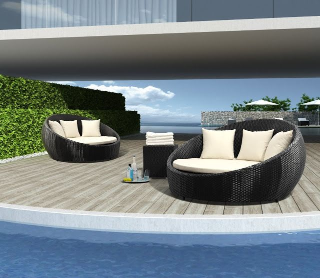 cama-mueble-para-patio | muebles de mimbre | Pinterest