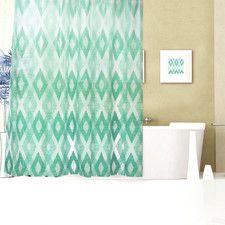 Geo Texture Shower Curtain Set