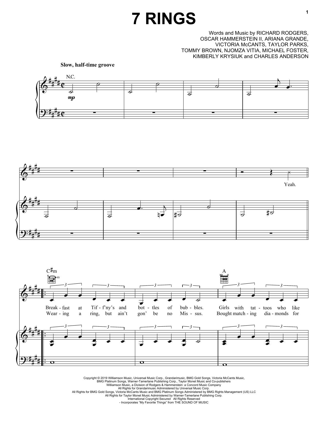 7 rings chords