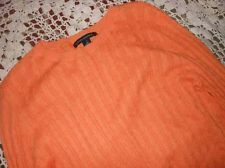EUC Banana Republic orange cotton angora cable knit sweater ladies M