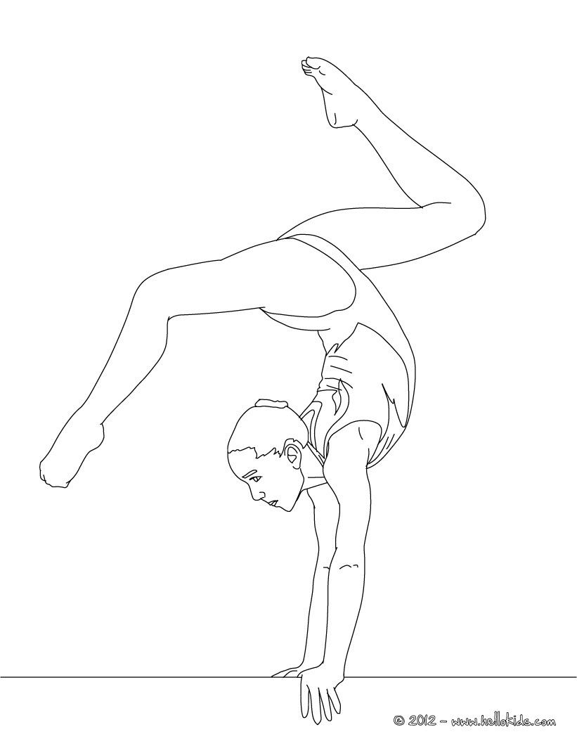 Balance Beam Artistic Gymnastics Coloring Page More Sports