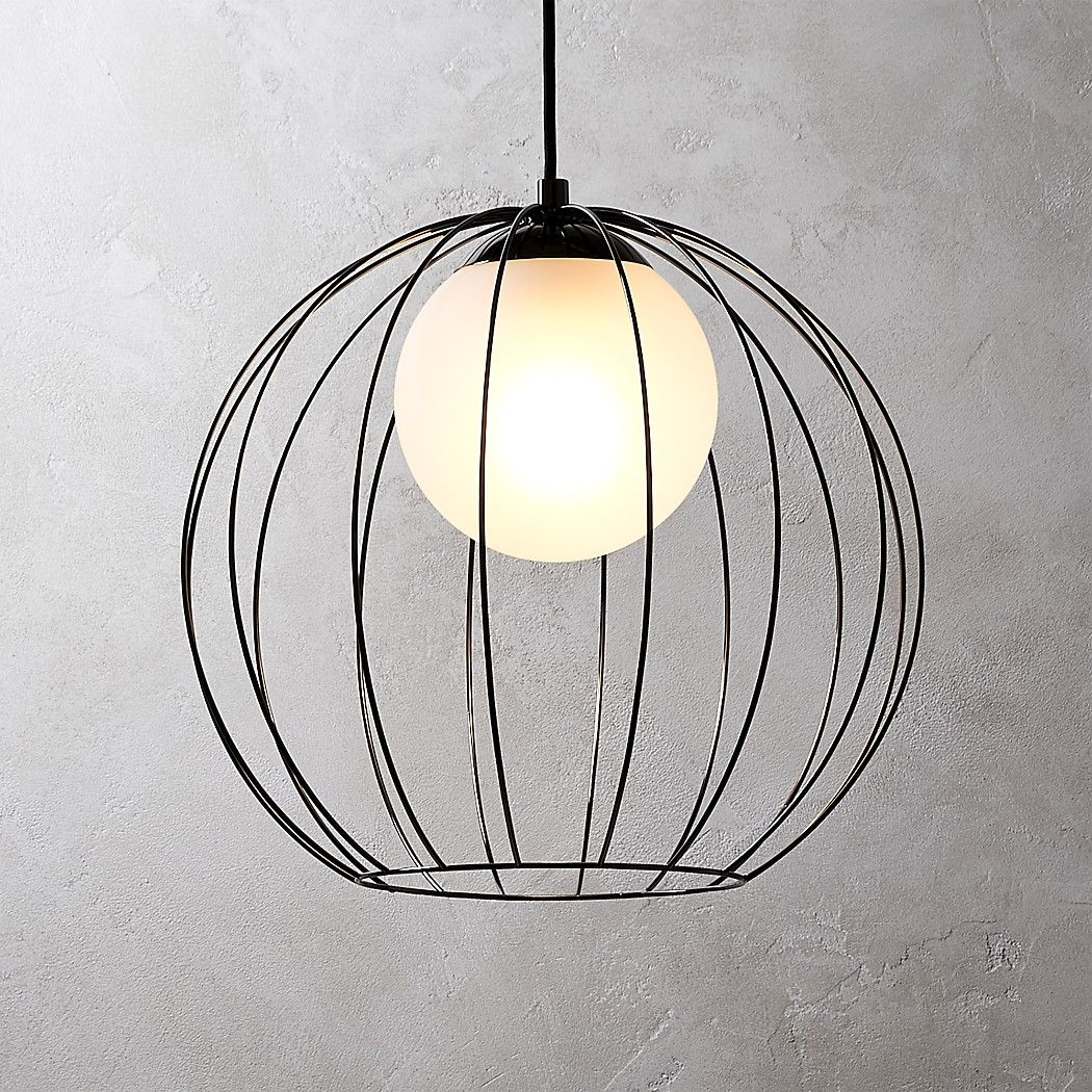 Shop Cage Black Globe Pendant Light Drawing Inspiration From