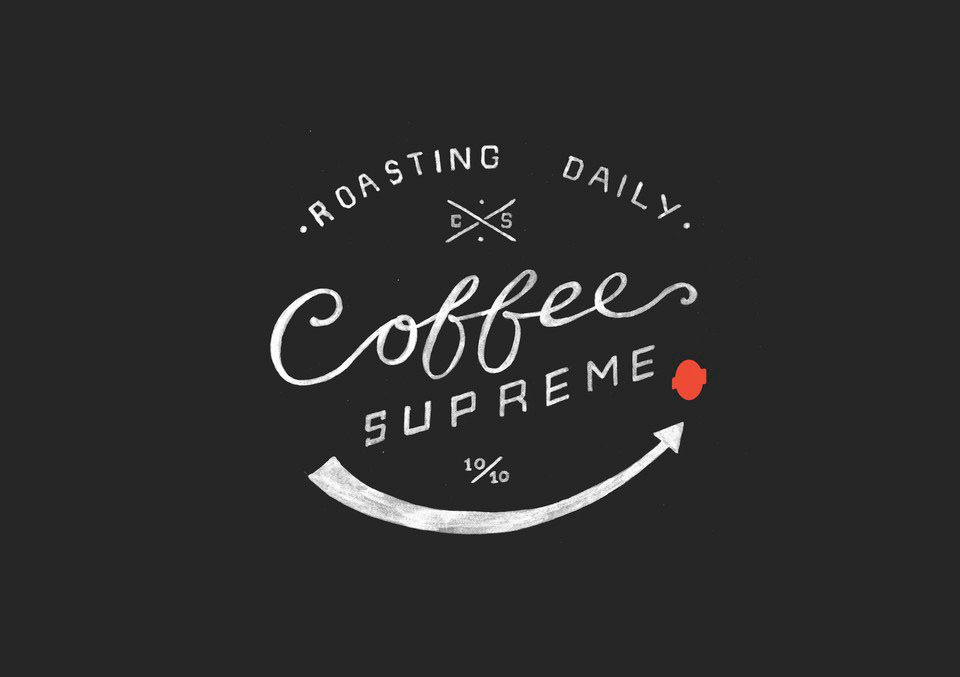 Coffee Supreme branding by Hardhat Design via Lovely Package