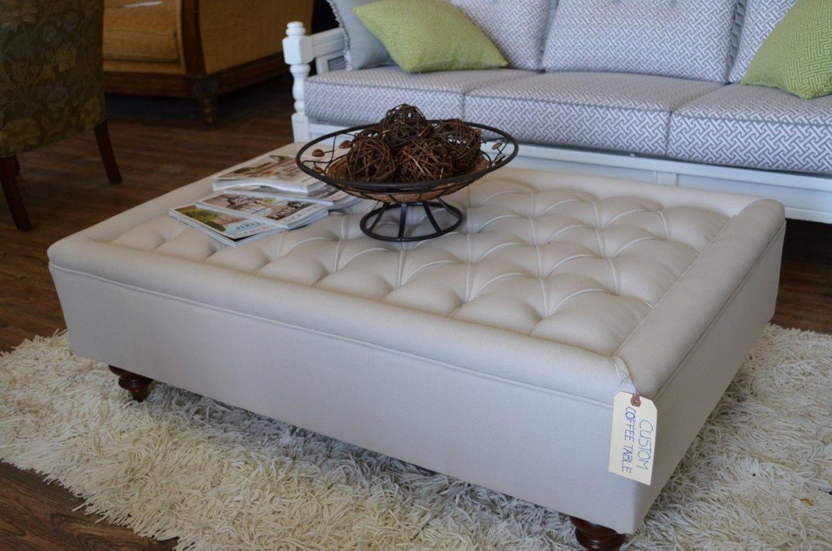 Glass Top Ottoman Coffee Table Modern Design Furniture Check