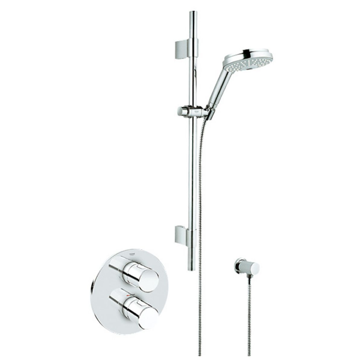 Grohe Grohmaster G3000 Cosmo BIV Concealed Shower Kit | Shower kits ...